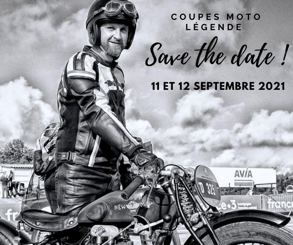 Rendez-vous aux Coupes Moto Légende les 11 et 12 septembre 2021